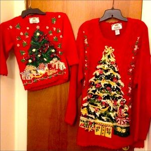 Mom & Daughter Christmas Sweaters